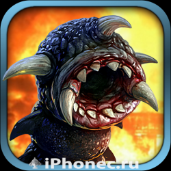 hd игры для iphone 5, 4S death worm