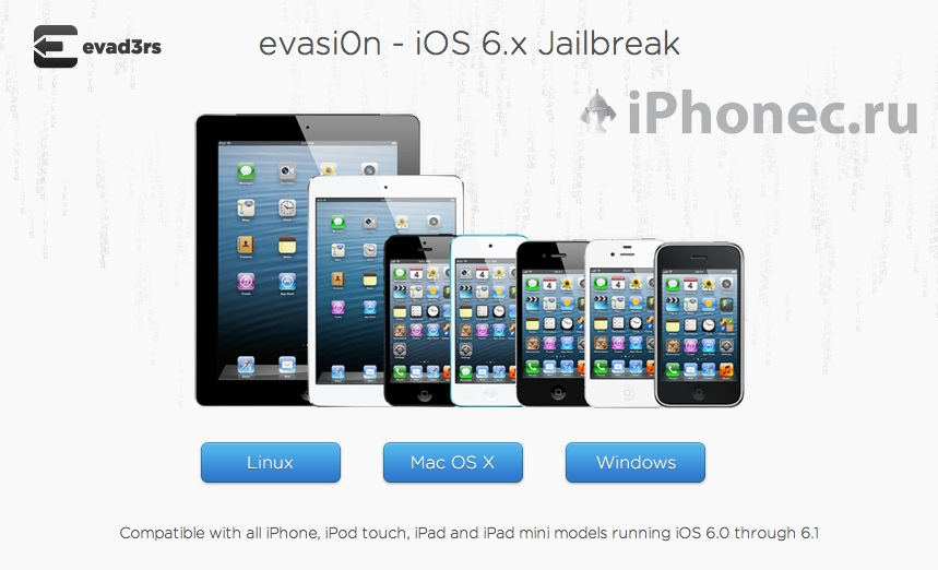 Evasi0n jailbreak iOS 6.1 iPhone 5, iPad mini